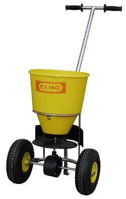 CEMO Streuwagen aus Edelstahl mit PE Behälter SW 50-E