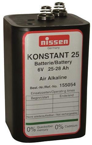 Nissen Konstant Batterie 25 / 6 V