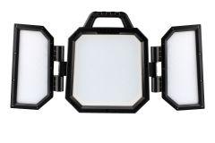 LED-Arbeitsleuchte m. verstelllb. Leuchtpaneelen + 2 Bluetooth Lautsprecher