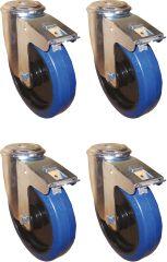 Alutec Rädersatz für Riffelblechboxen