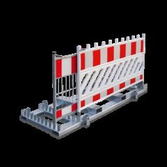 Nissen Transport- und Lagergestell, stapelfähig, für 20 Absturzsicherungen 2000 x 1000 mm, aus feuerverzinktem Stahl