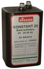 Nissen Konstant Batterie 25 / 6 V, 25-28 Ah