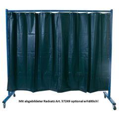 Elmag Schweißerschutzwand 1-teilig, mit Folienvorhang S9 dunkelgrün