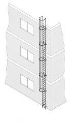 Illerleiter Einzügige Steigleitern - Ortsfeste Steigleitern bis max 10 m Höhe